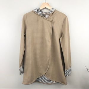 Chico's NWT Reversible Hooded Cardigan